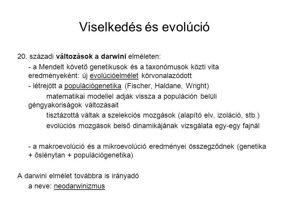 Viselkedés és evolúció