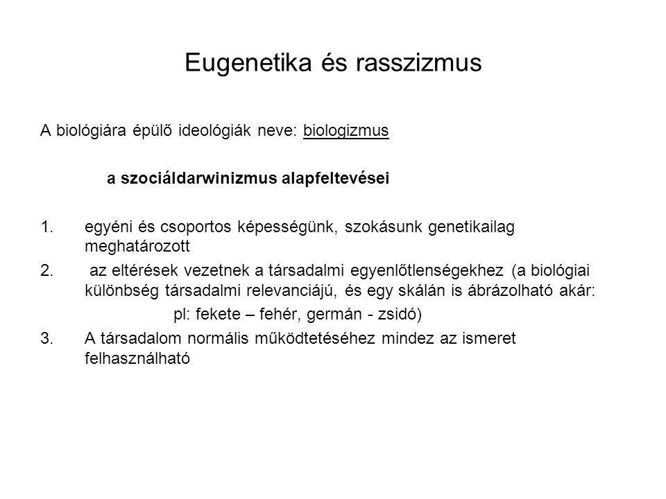 Eugenetika és rasszizmus