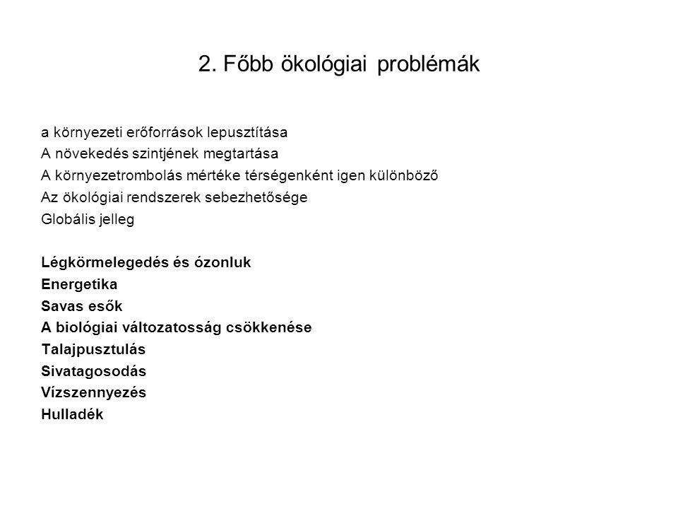 2. Főbb ökológiai problémák
