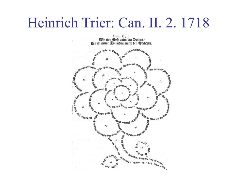 Heinrich Trier: Can. II. 2. 1718