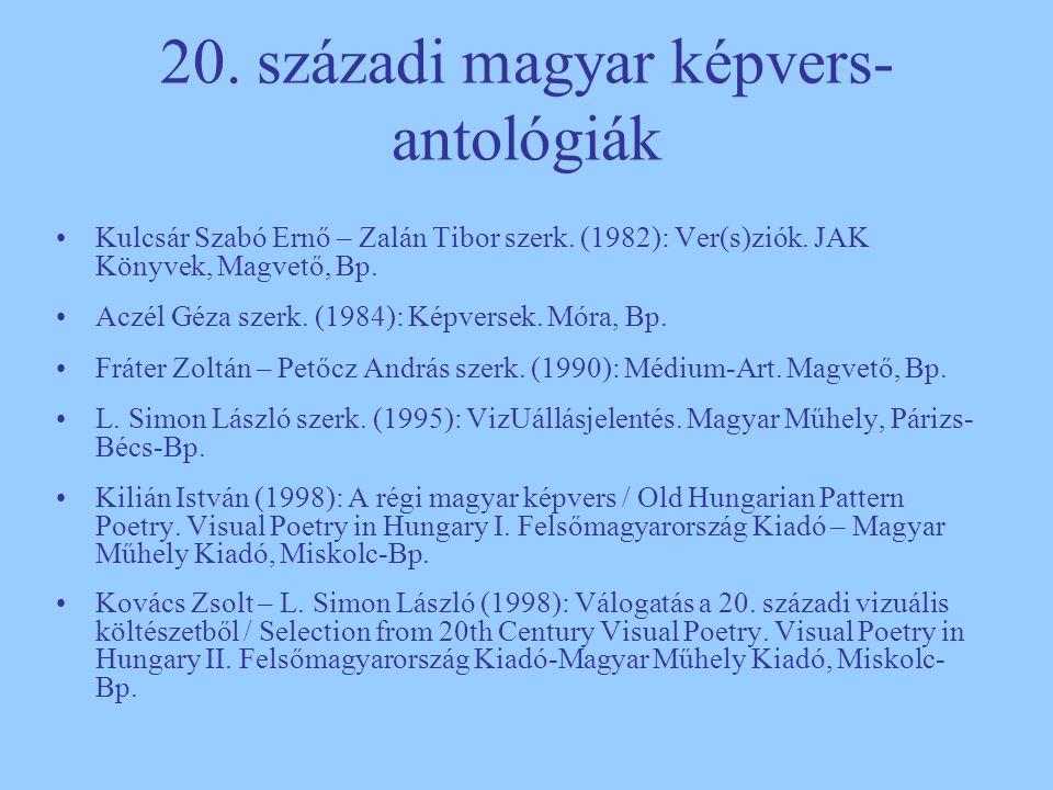 20. századi magyar képvers-antológiák