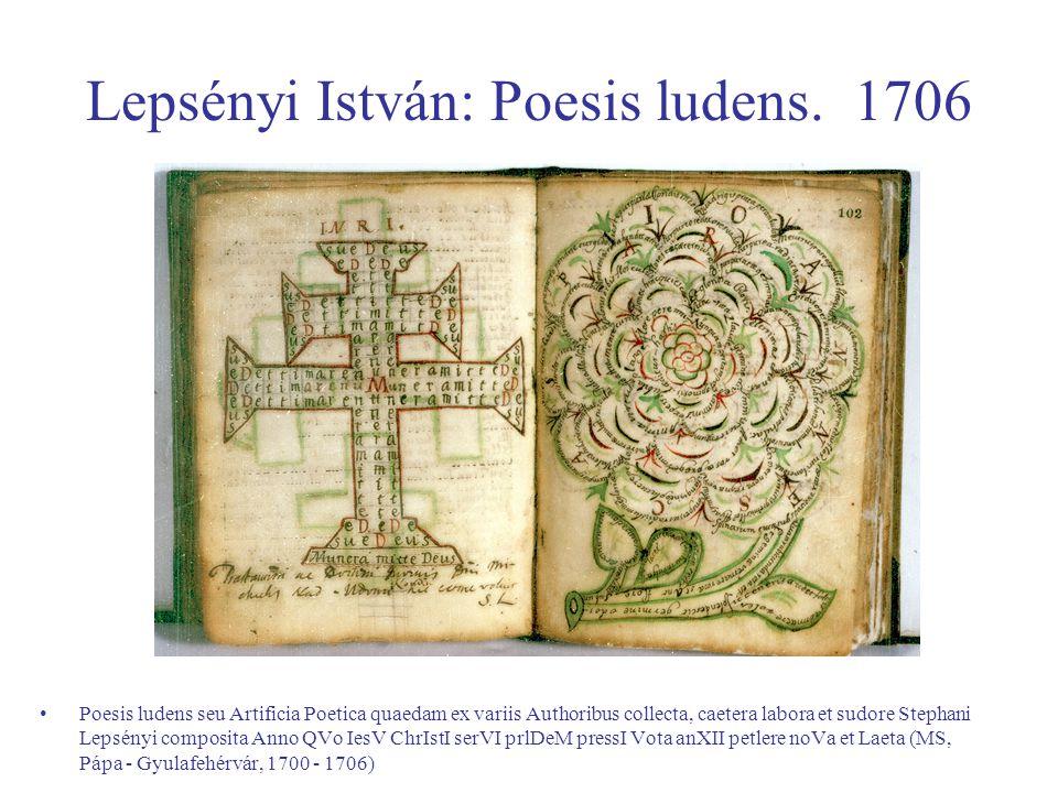 Lepsényi István: Poesis ludens. 1706