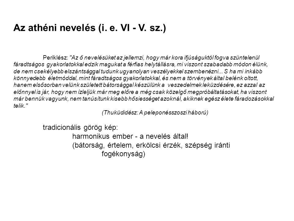 Az athéni nevelés (i. e. VI - V. sz.)