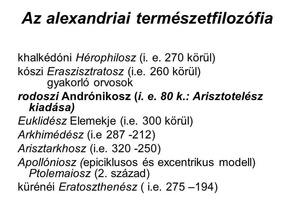 Az alexandriai természetfilozófia