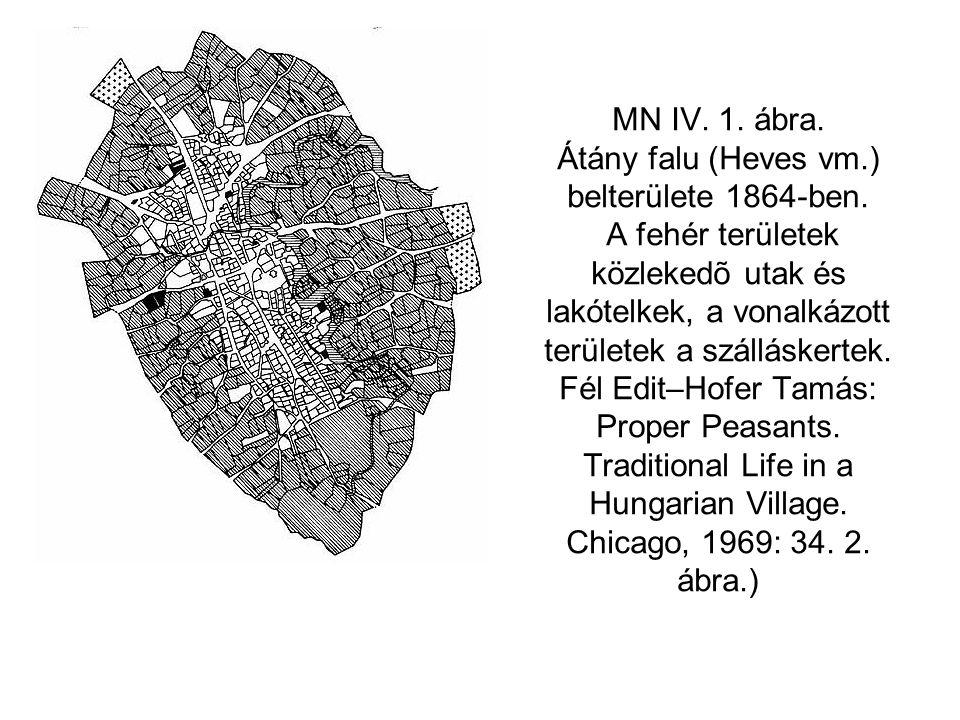 MN IV. 1. ábra. Átány falu (Heves vm. ) belterülete 1864-ben