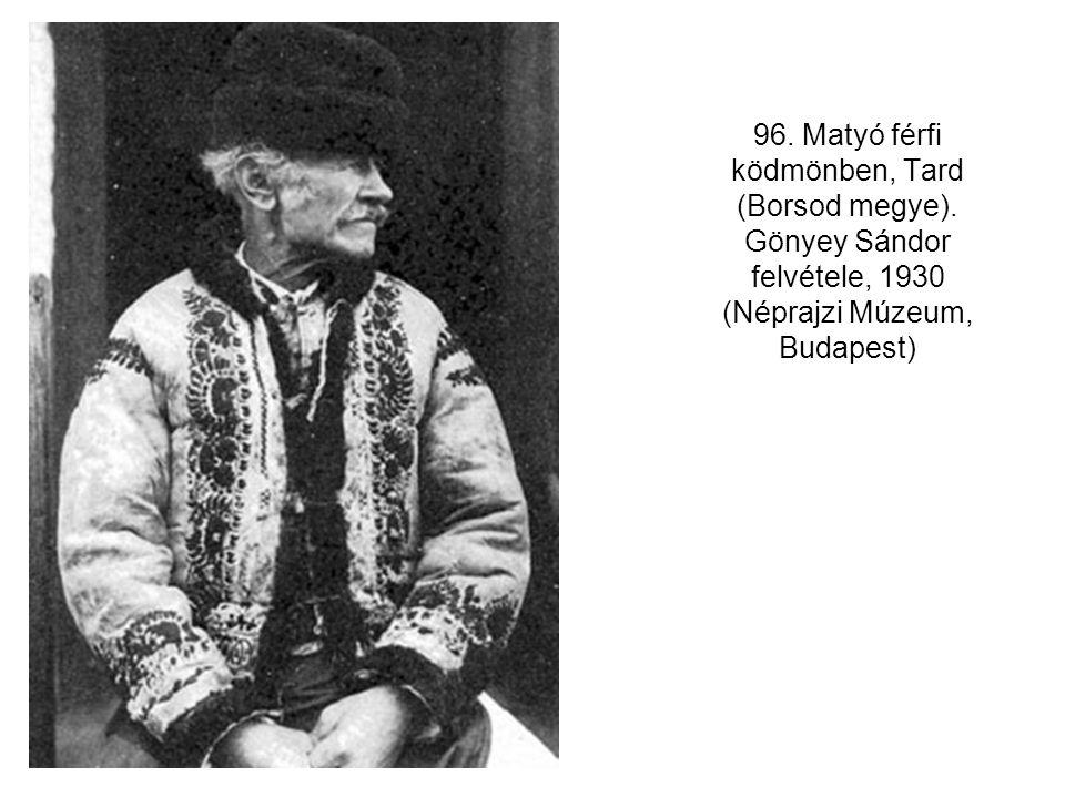 96. Matyó férfi ködmönben, Tard (Borsod megye)