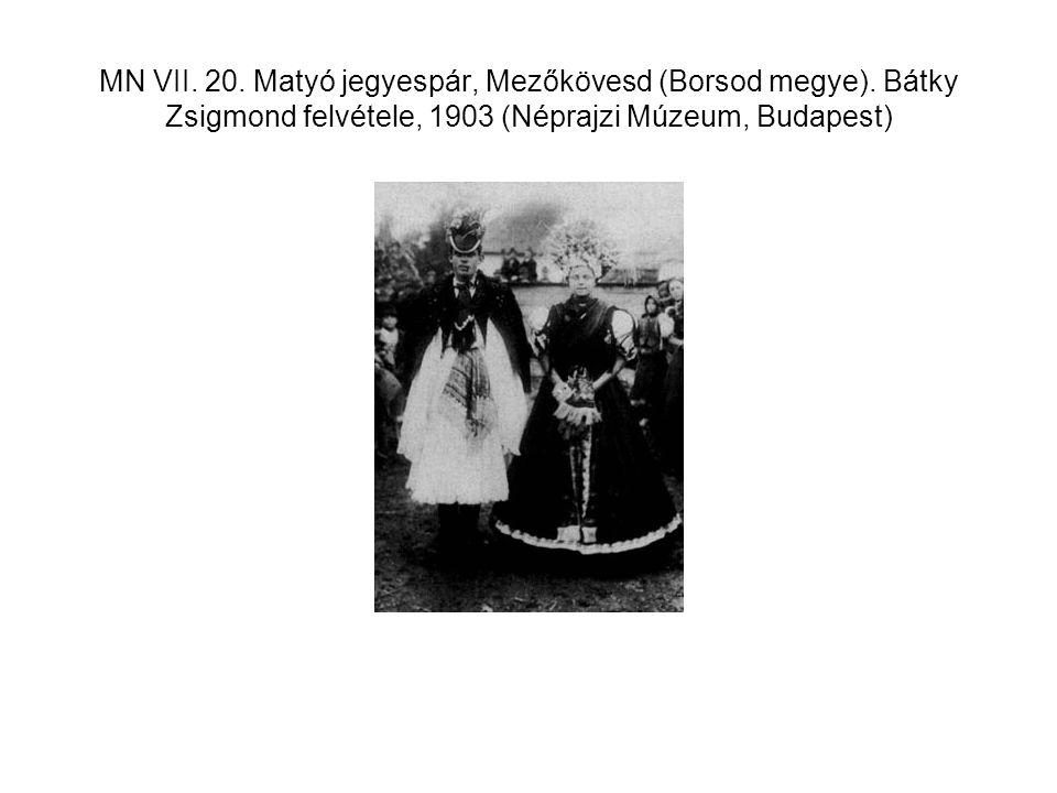 MN VII. 20. Matyó jegyespár, Mezőkövesd (Borsod megye)