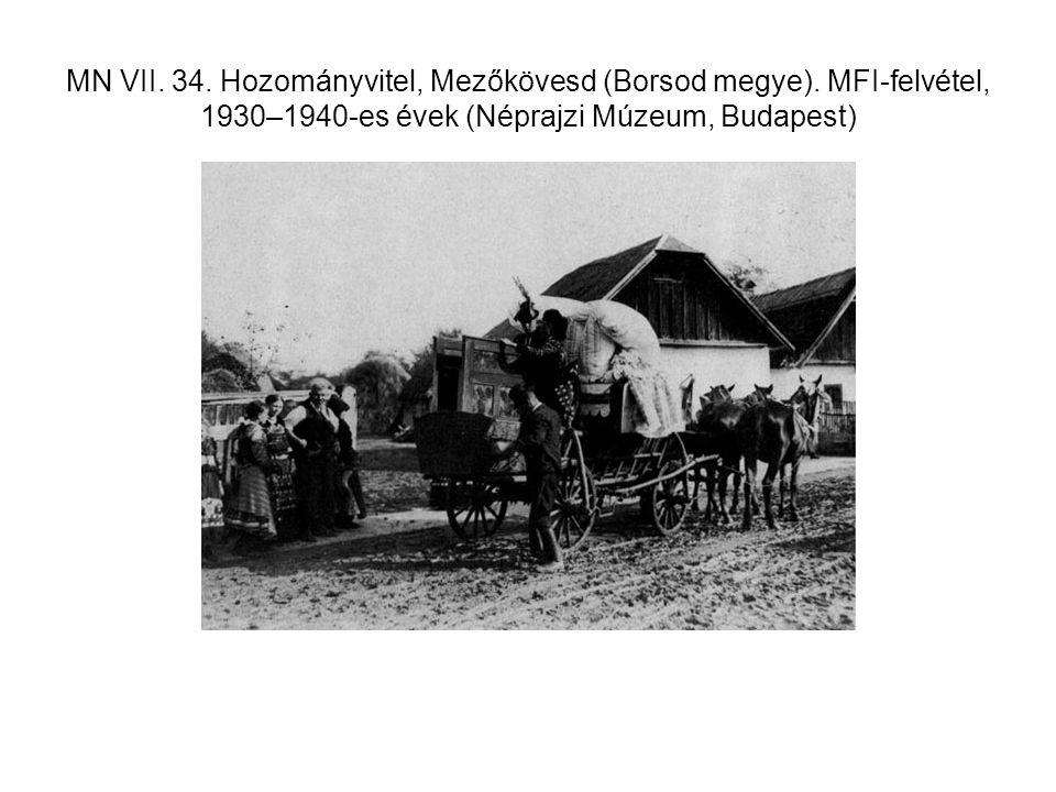 MN VII. 34. Hozományvitel, Mezőkövesd (Borsod megye)