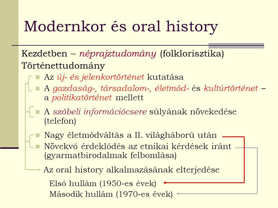 Modernkor és oral history