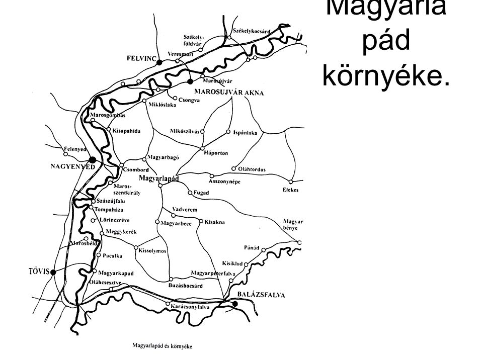 Magyarlapád környéke.