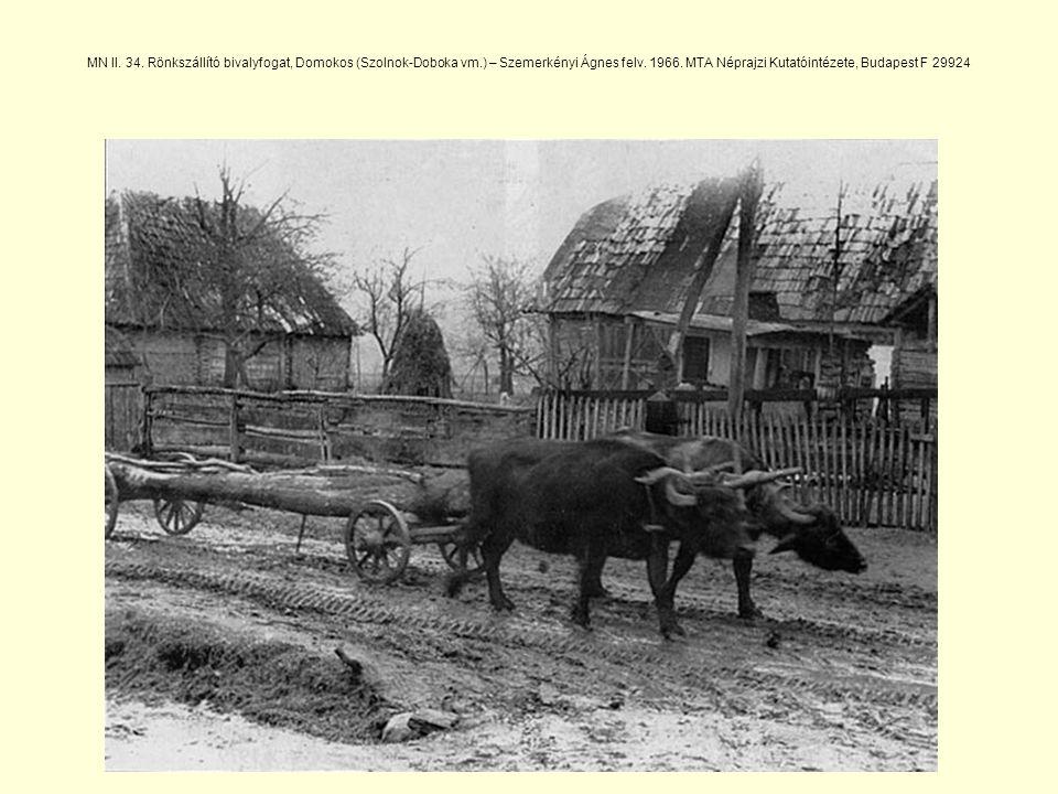 MN II. 34. Rönkszállító bivalyfogat, Domokos (Szolnok-Doboka vm