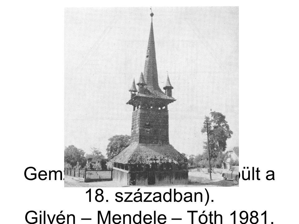 Gemzse, harangtorony (épült a 18. században)