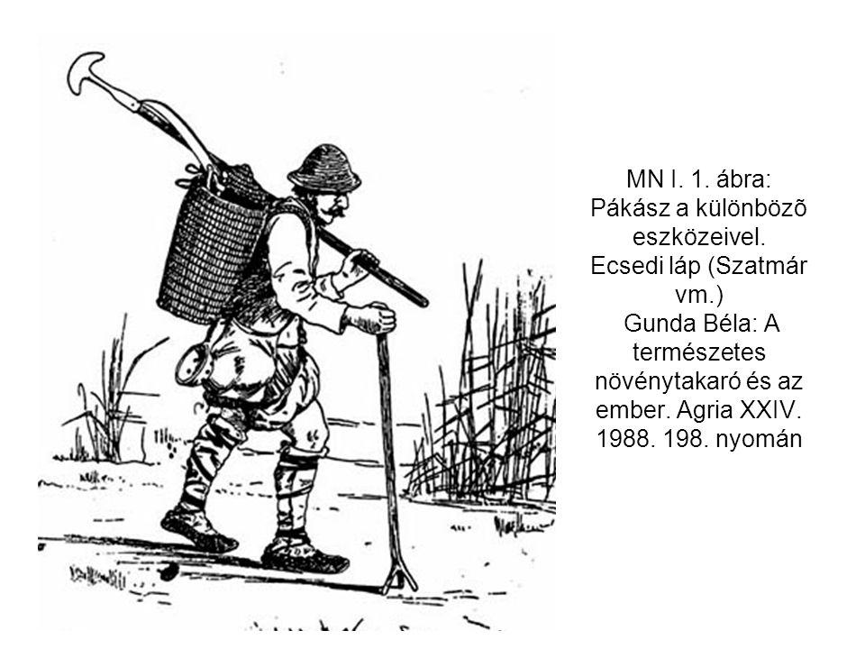 MN I. 1. ábra: Pákász a különbözõ eszközeivel. Ecsedi láp (Szatmár vm