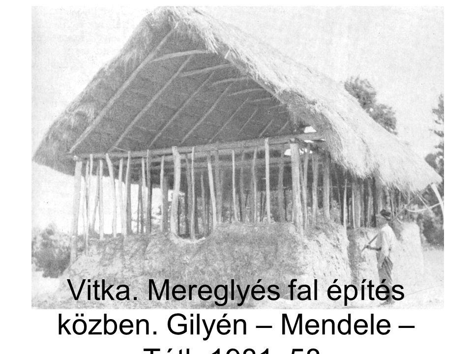 Vitka. Mereglyés fal építés közben. Gilyén – Mendele – Tóth 1981. 58.