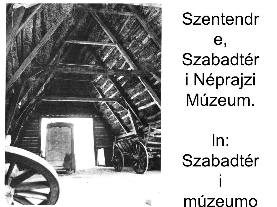 A tiszabecsi csűr belvilága. Szentendre, Szabadtéri Néprajzi Múzeum