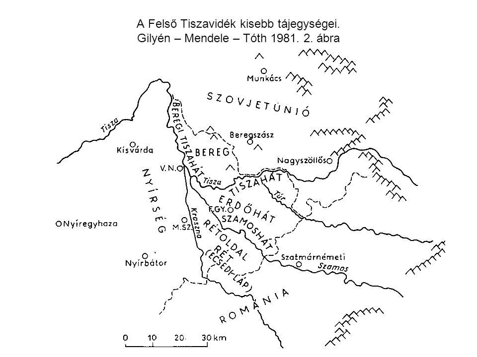 A Felső Tiszavidék kisebb tájegységei. Gilyén – Mendele – Tóth 1981. 2