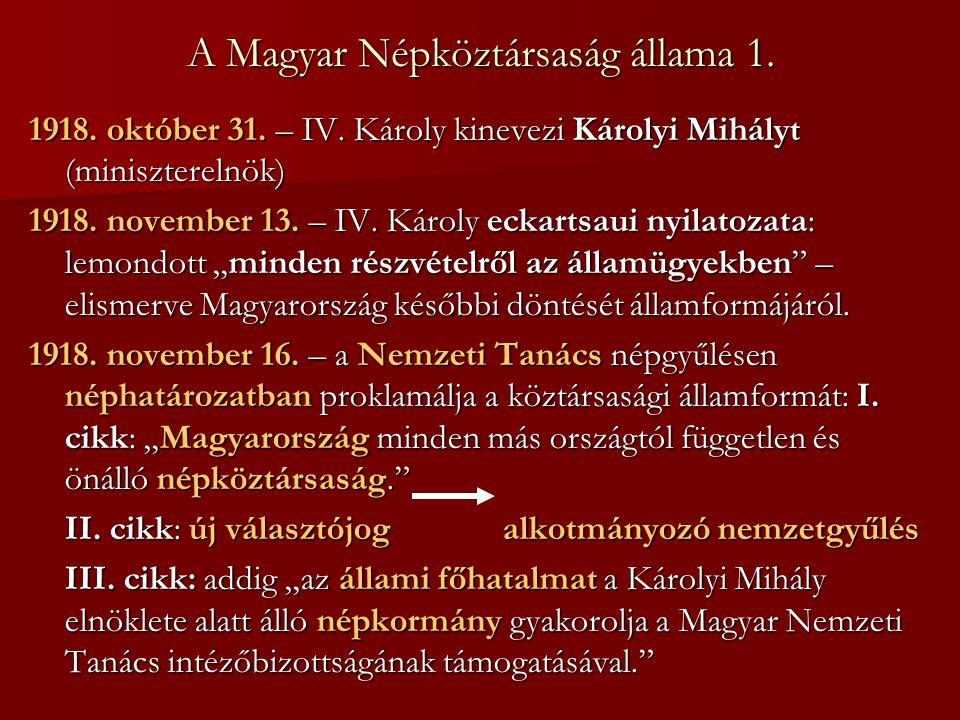 A Magyar Népköztársaság állama 1.
