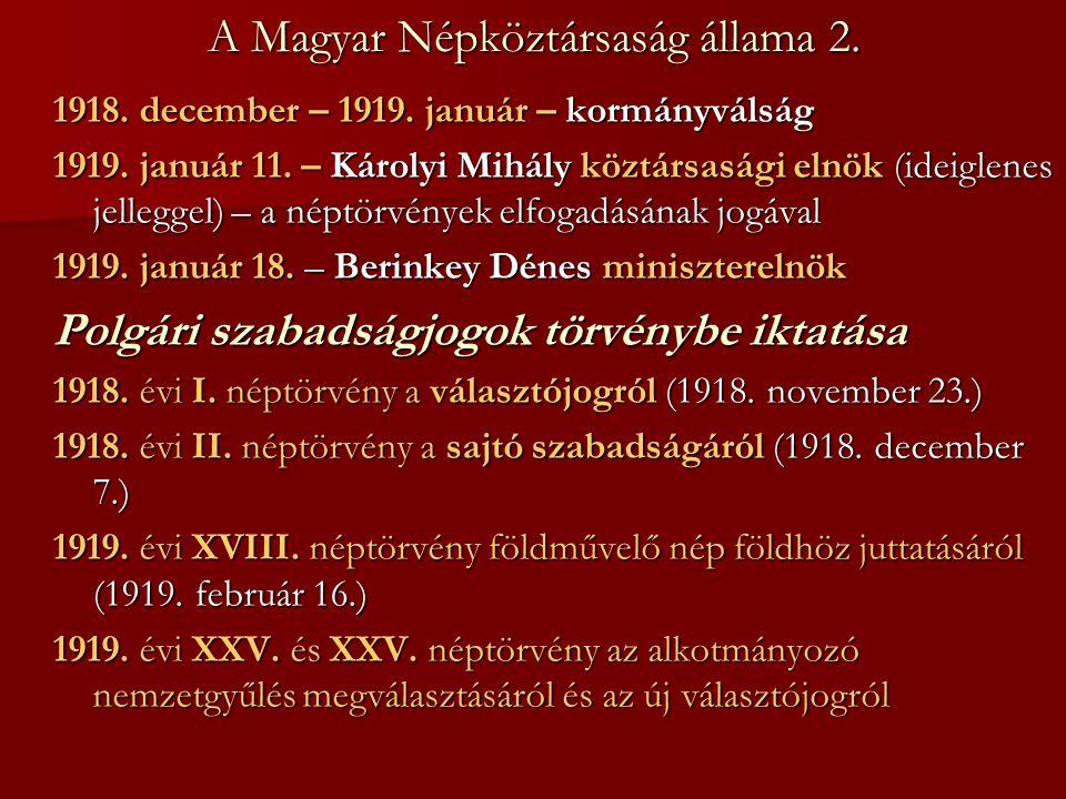 A Magyar Népköztársaság állama 2.