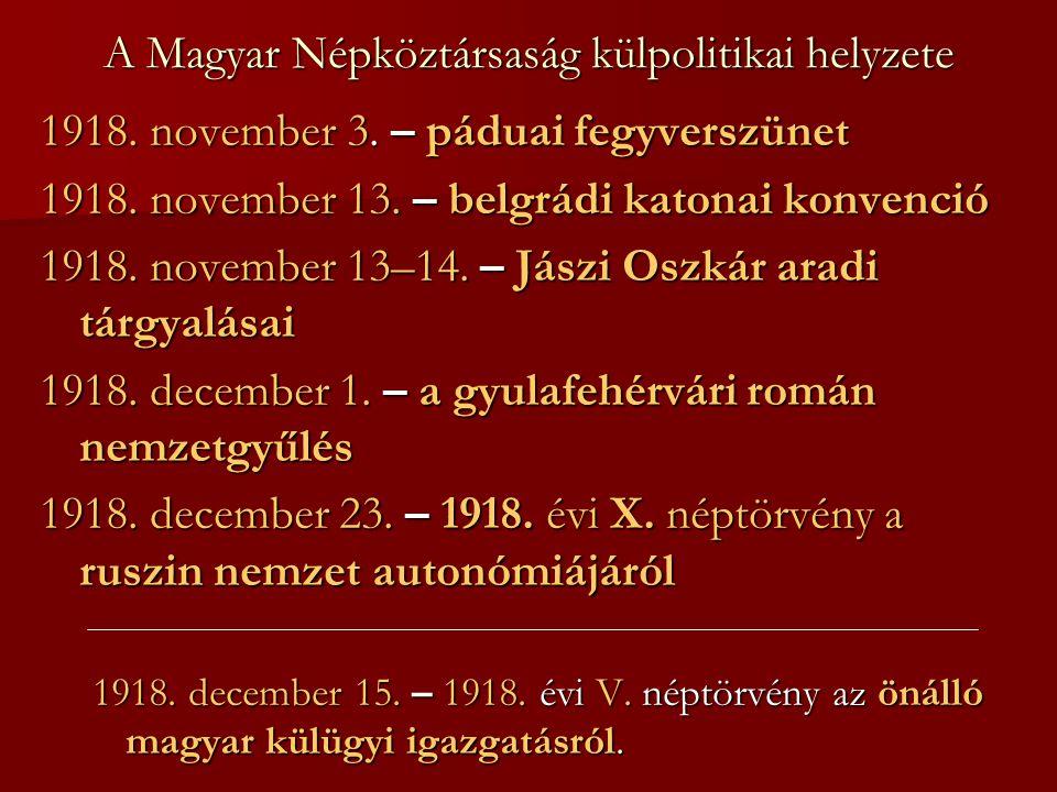 A Magyar Népköztársaság külpolitikai helyzete