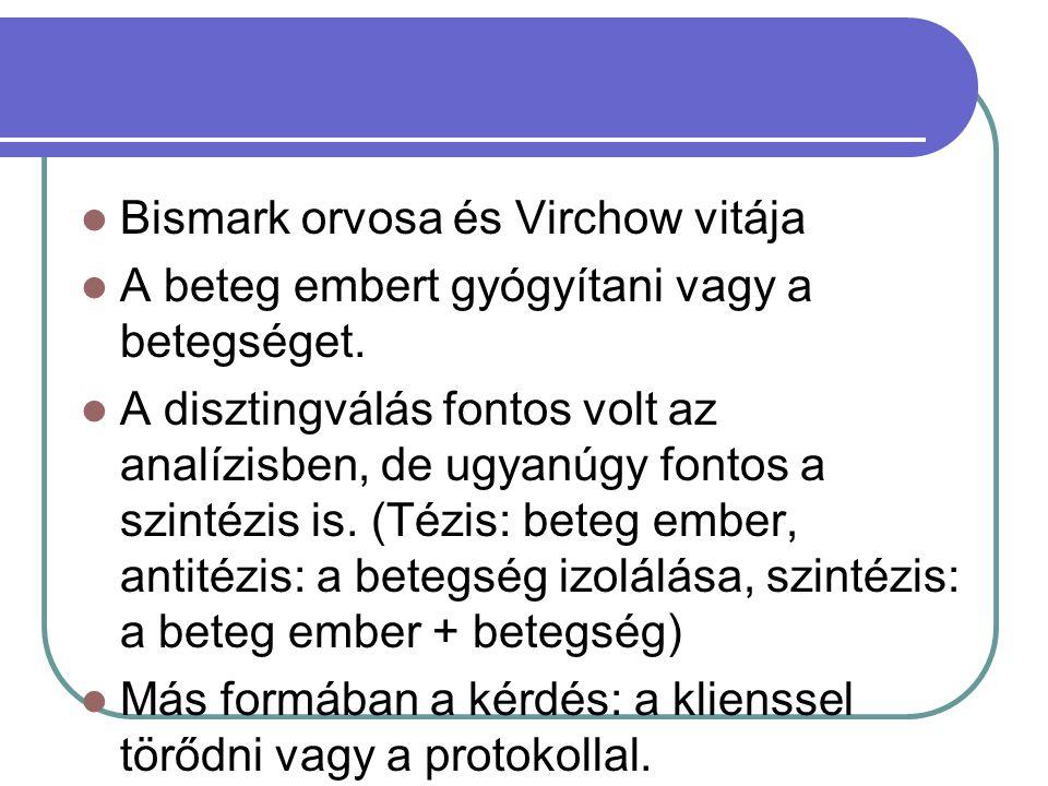 Bismark orvosa és Virchow vitája