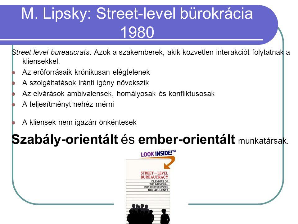 M. Lipsky: Street-level bürokrácia 1980