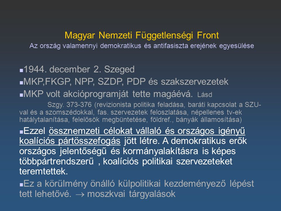 Magyar Nemzeti Függetlenségi Front