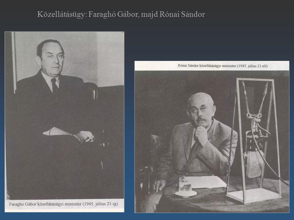 Közellátásügy: Faraghó Gábor, majd Rónai Sándor