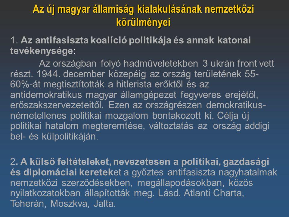 Az új magyar államiság kialakulásának nemzetközi körülményei