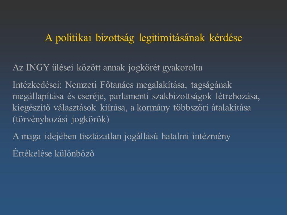 A politikai bizottság legitimitásának kérdése
