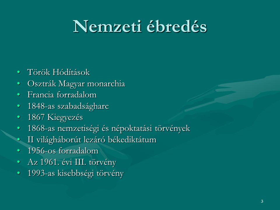Nemzeti ébredés Török Hódítások Osztrák Magyar monarchia