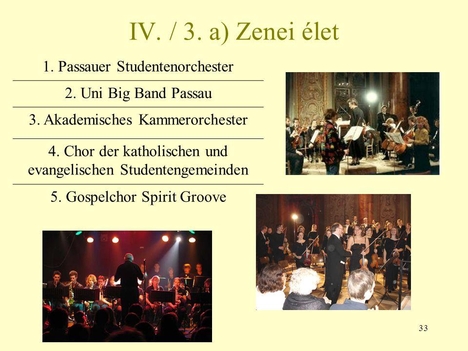IV. / 3. a) Zenei élet 1. Passauer Studentenorchester