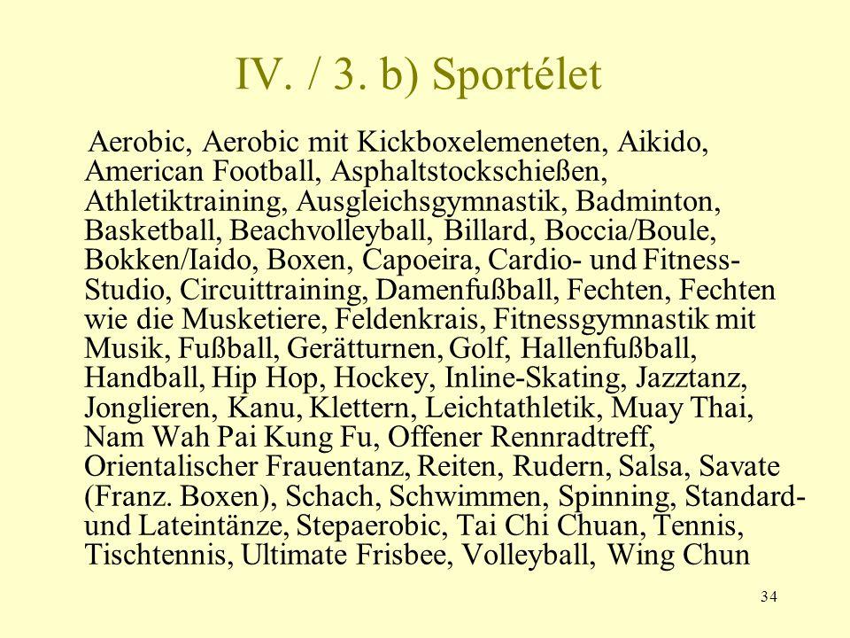 IV. / 3. b) Sportélet