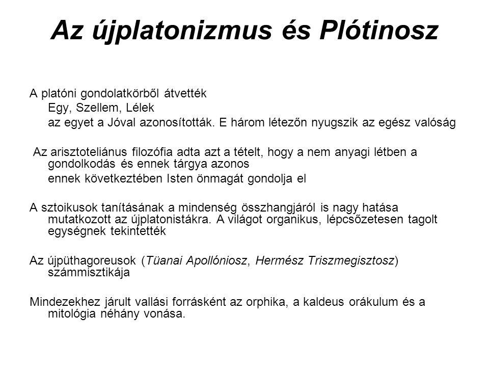Az újplatonizmus és Plótinosz