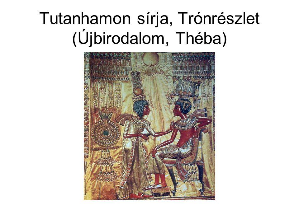 Tutanhamon sírja, Trónrészlet (Újbirodalom, Théba)