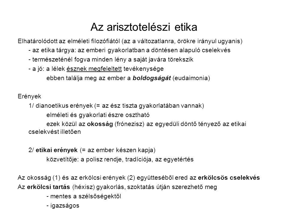 Az arisztotelészi etika
