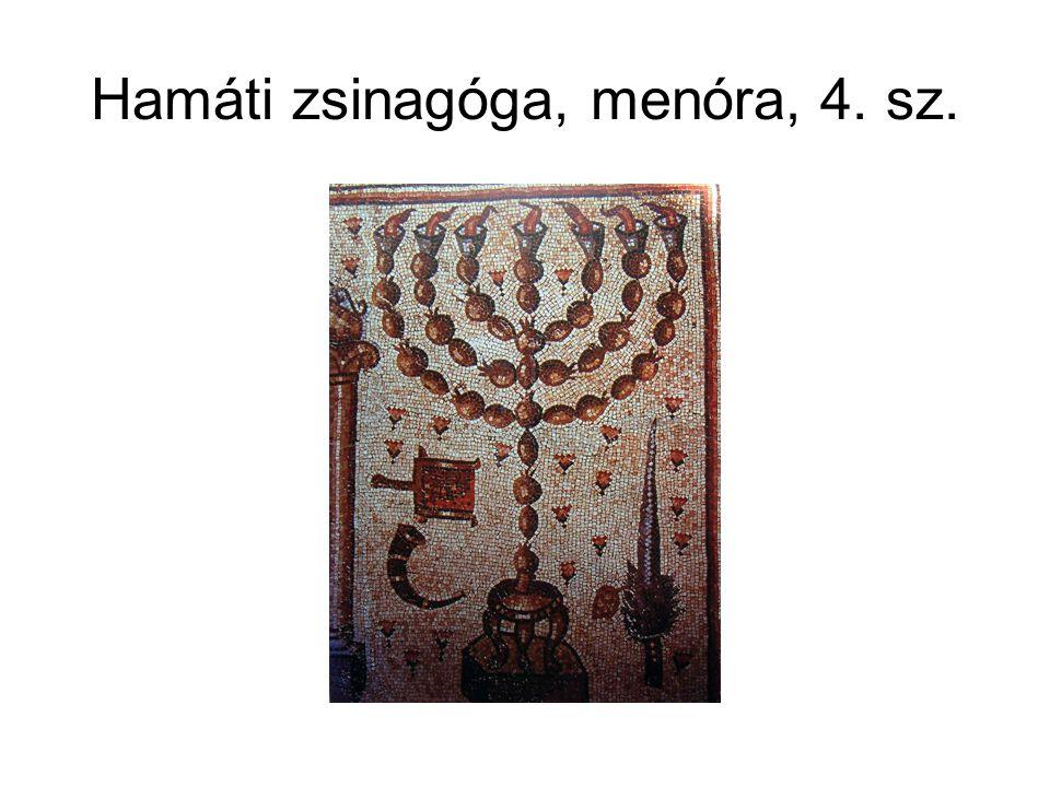 Hamáti zsinagóga, menóra, 4. sz.