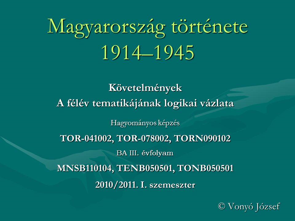 Magyarország története 1914–1945