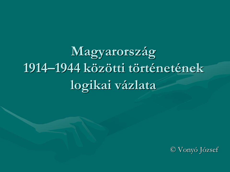 Magyarország 1914–1944 közötti történetének logikai vázlata