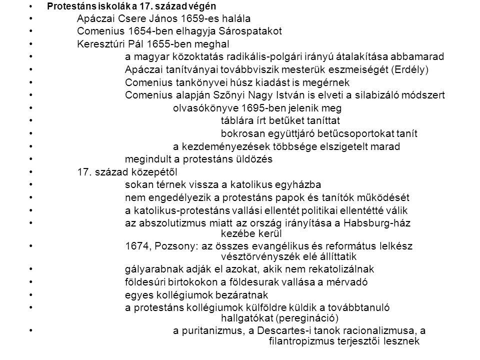 Apáczai Csere János 1659-es halála