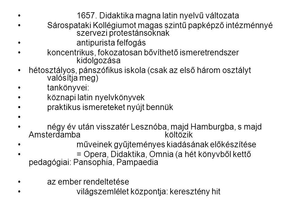 1657. Didaktika magna latin nyelvű változata