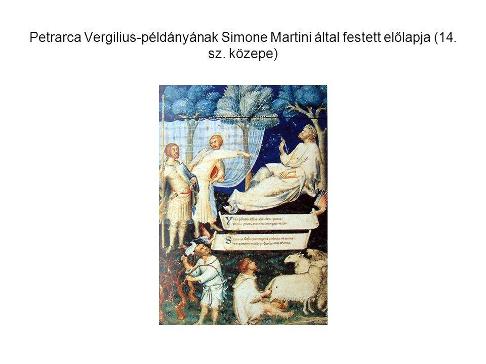 Petrarca Vergilius-példányának Simone Martini által festett előlapja (14. sz. közepe)