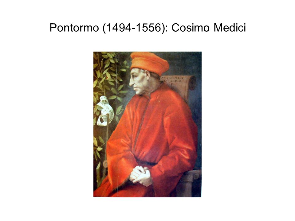 Pontormo (1494-1556): Cosimo Medici