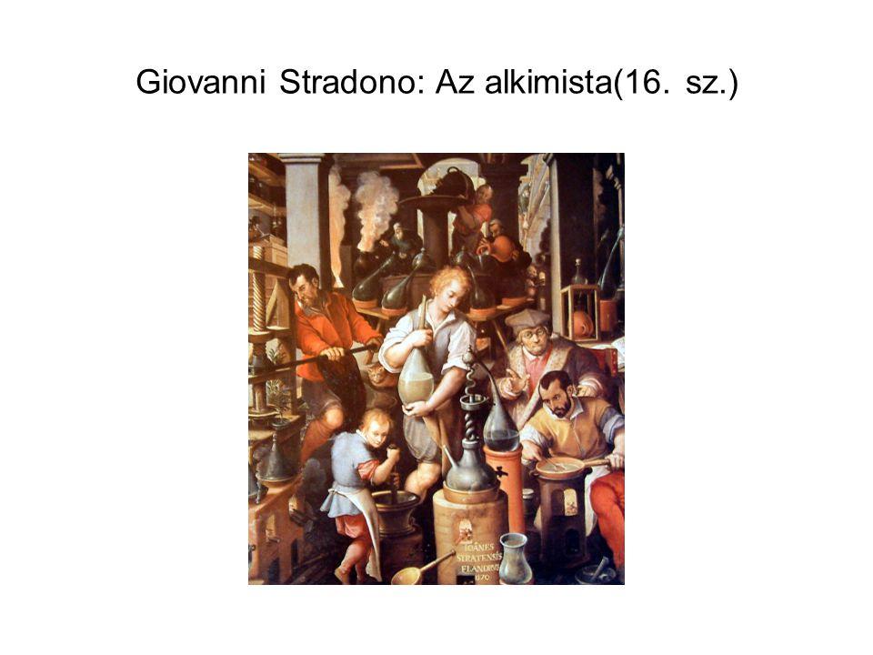 Giovanni Stradono: Az alkimista(16. sz.)