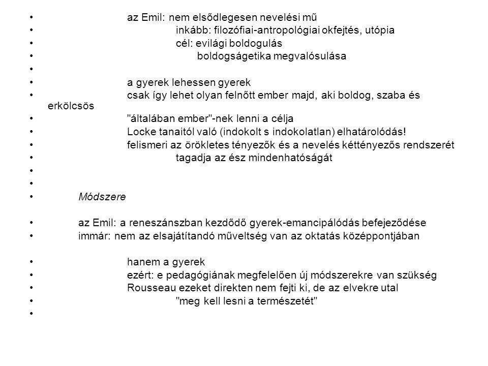 az Emil: nem elsődlegesen nevelési mű