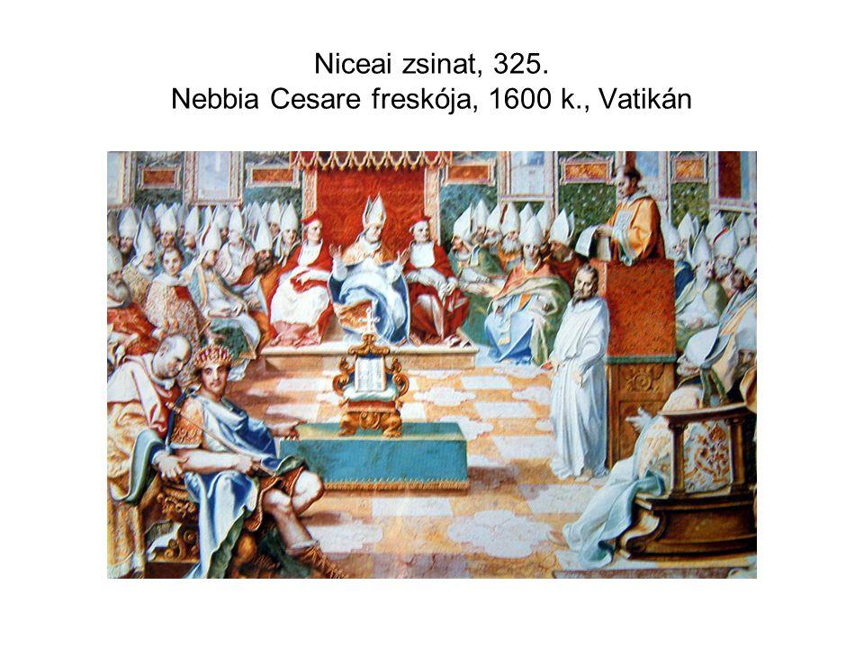Niceai zsinat, 325. Nebbia Cesare freskója, 1600 k., Vatikán