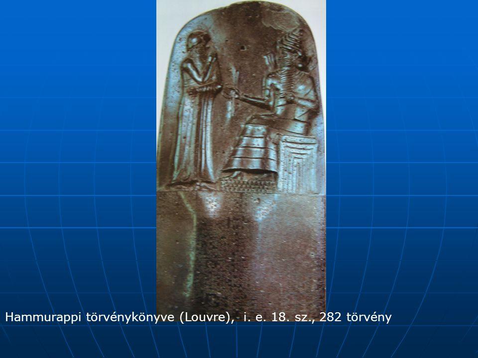 Hammurappi törvénykönyve (Louvre), i. e. 18. sz., 282 törvény