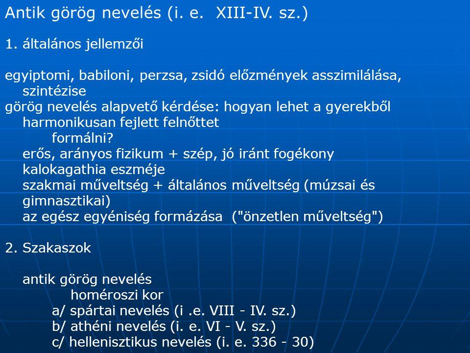 Antik görög nevelés (i. e. XIII-IV. sz.)