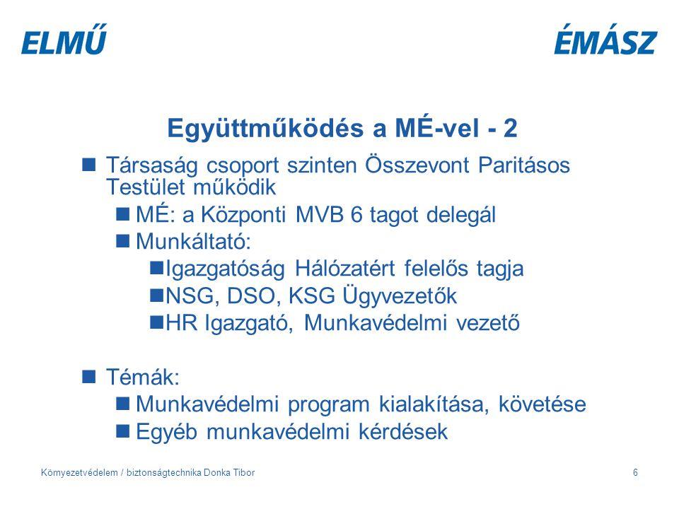 Együttműködés a MÉ-vel - 2