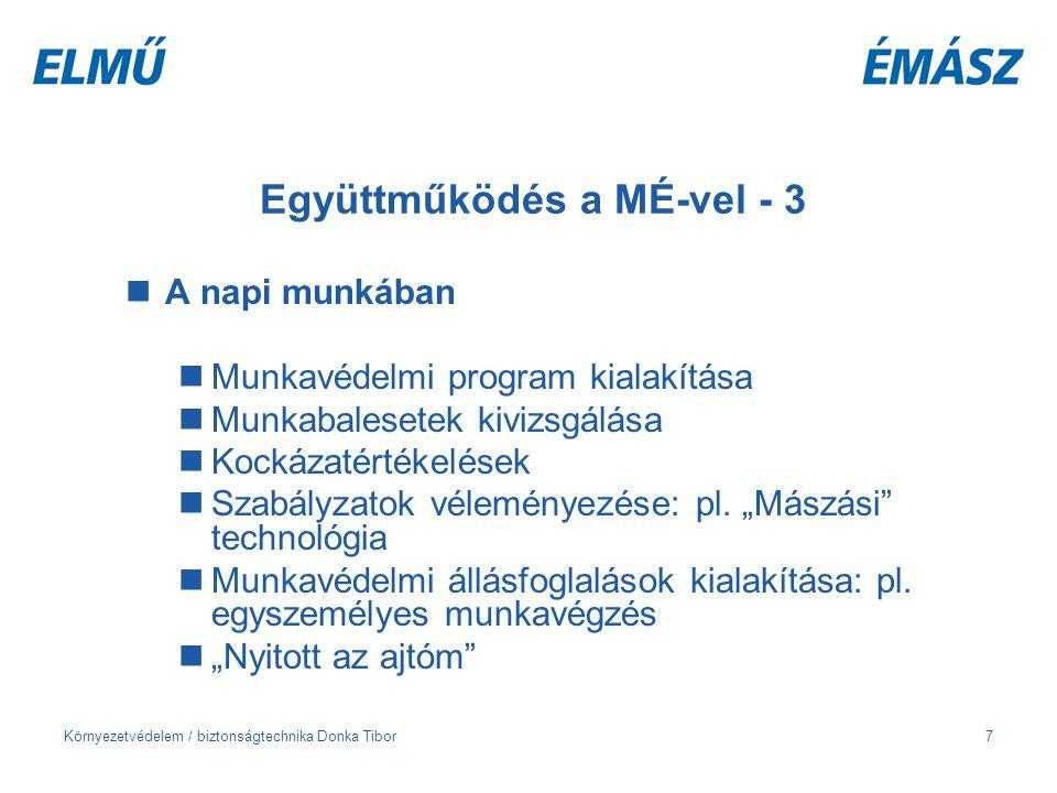 Együttműködés a MÉ-vel - 3