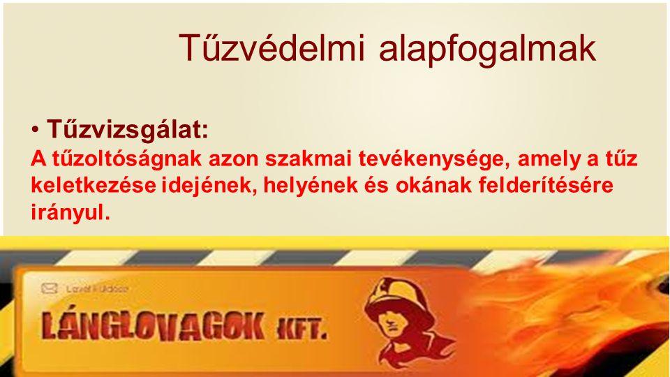 Tűzvédelmi alapfogalmak